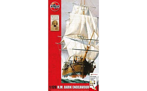 Airfix Large Starter Set - H.M. Bark Endeavour 250th Anniversary