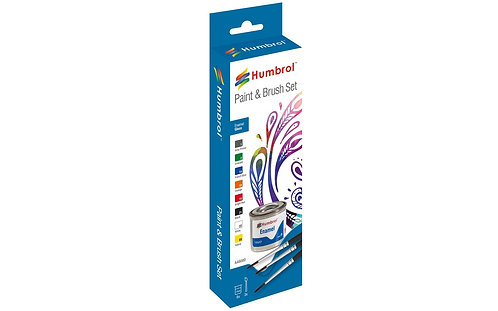 Humbrol Paint & Brush Set - Enamel Gloss