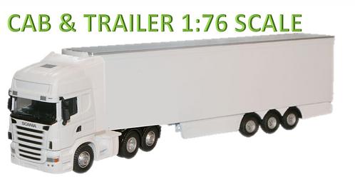 Oxford Diecast Scania Fridge Lorry Set- White