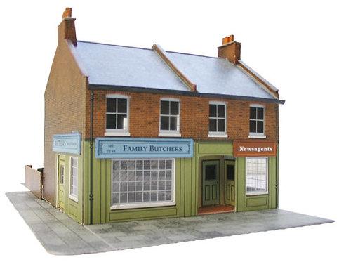 Superquick Model Low Relief Card Kit - Corner Shops