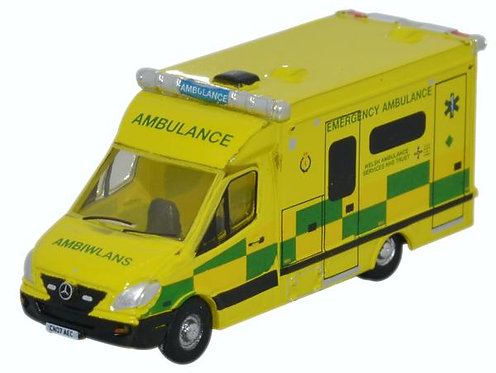 Oxford Diecast Mercedes Ambulance - Wales