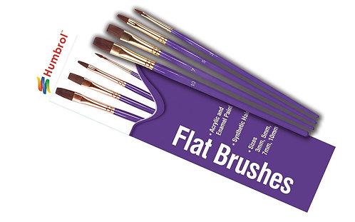 Humbrol Flat Brush Set