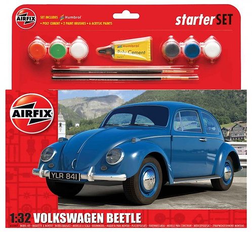 Airfix Medium Starter Set - Blue VW Beetle