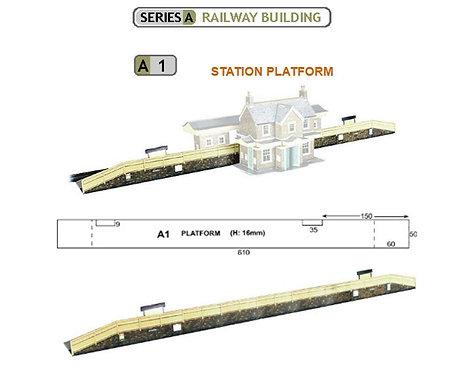 Superquick Model Card Kit - Station Platform