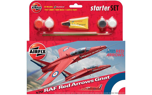 Airfix Starter Set - RAF Red Arrows Gnat