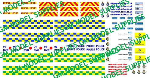 Police & Ambulance Sheet- Multipurpose