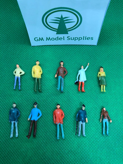 1:76 Scale Painted Model Figures - 25/50/100 Figures per Pack
