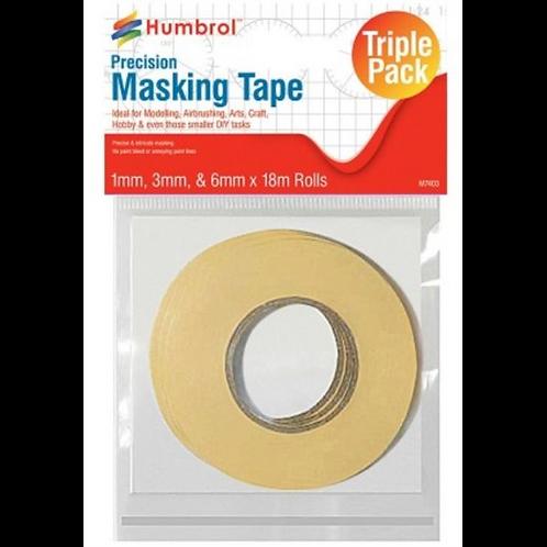 Humbrol Masking Tape Set - 1, 3 & 6mm x 18m