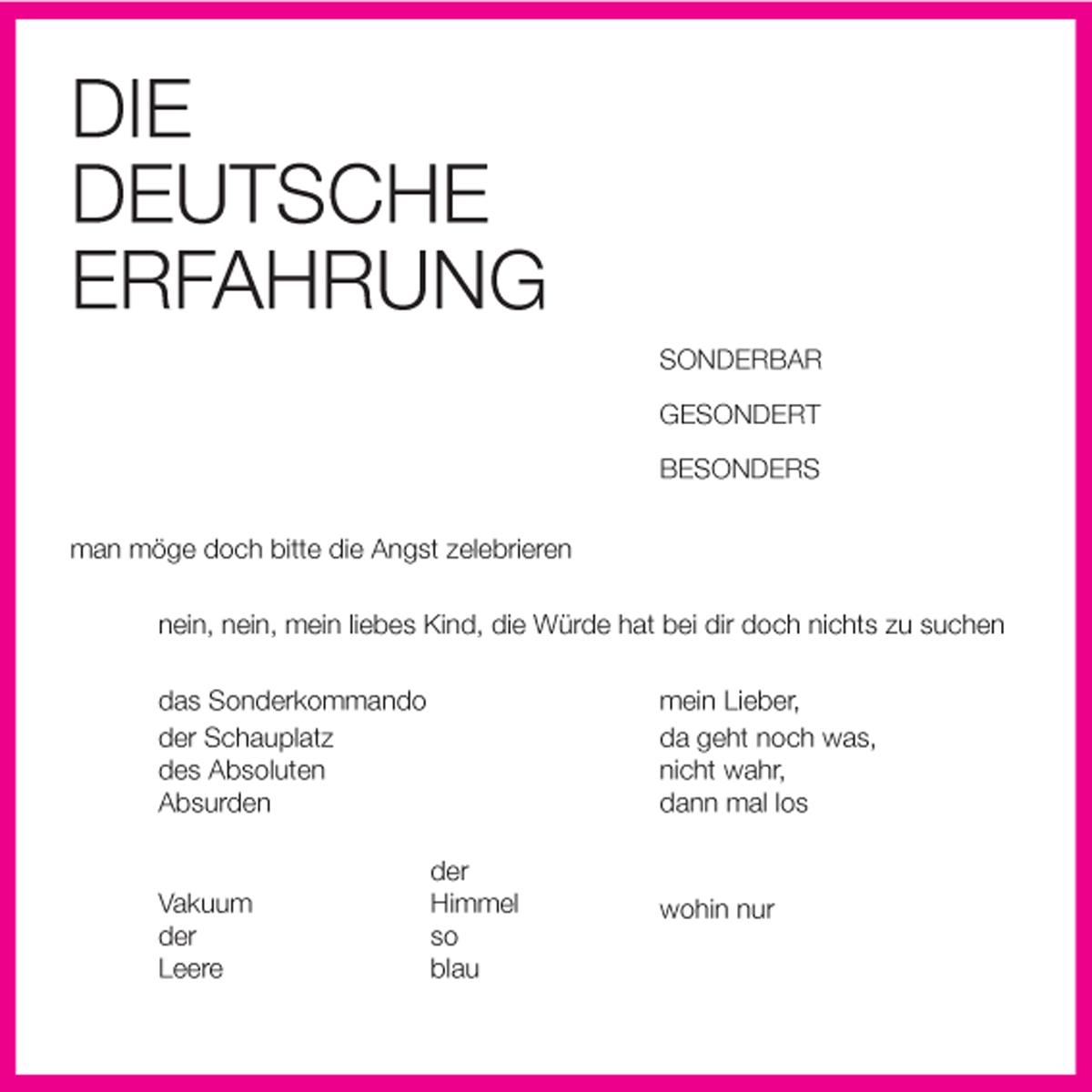 Die deutsche Erfahrung