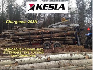 Chargeuse Kesla 203N sur remorque 9 tonnes modèle 92