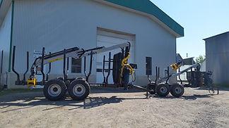 Remorques Kesla 92, 9 tonnes et modèle 122HD, 12 tonnes