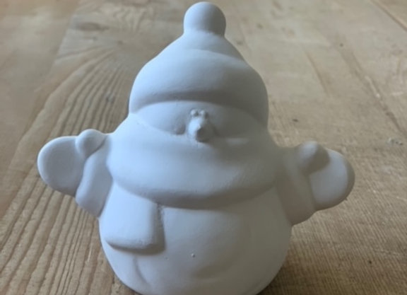 Take Out Craft Ceramic Snowman