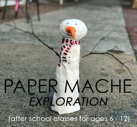 Paper Mache` Exploration - School Age