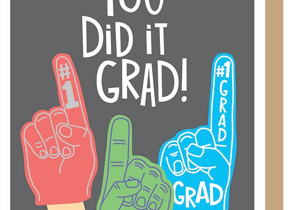 "Graduation Card ""Foam Finger"""