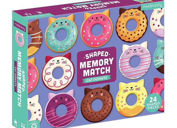 Shaped Memory Match - Cat Donut