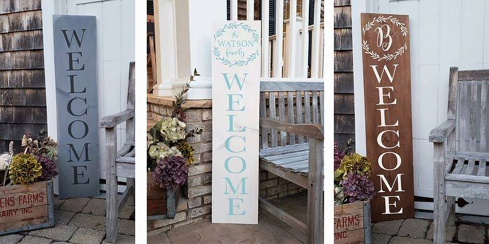 Wooden Porch Sign