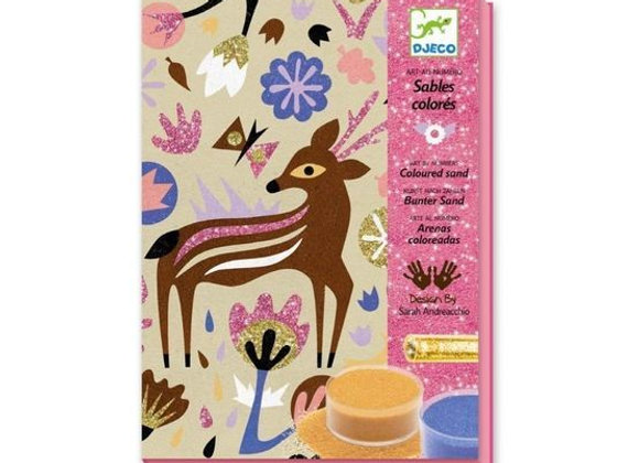 Woodland Sand & Glitter Art Kit