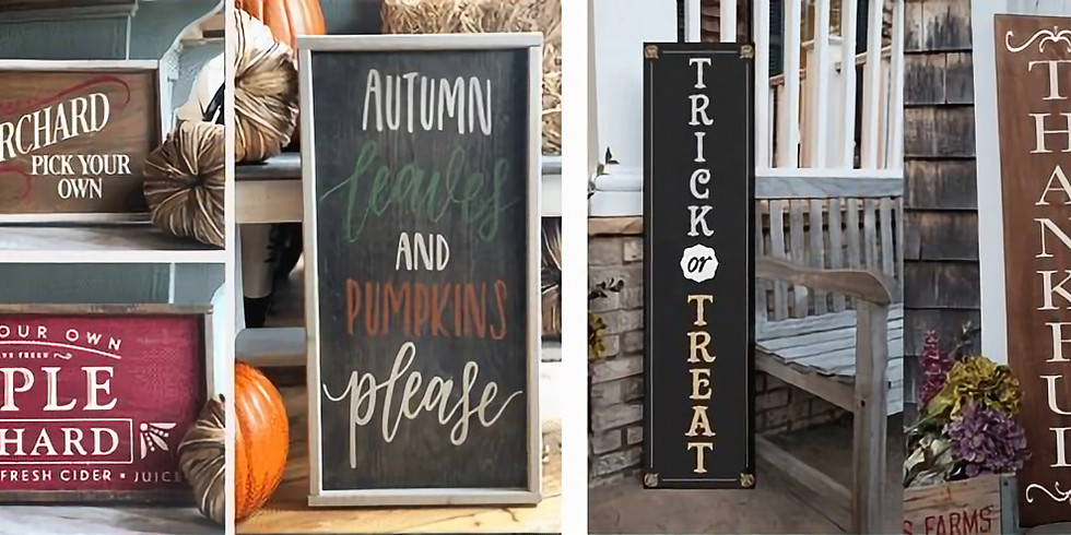 Fall Themed 12x24 Wood Signs or Porch Sign