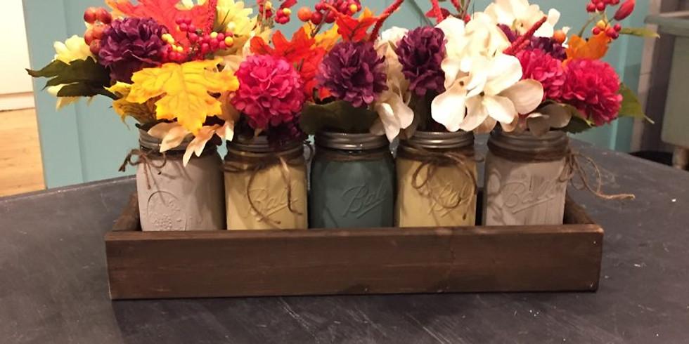 Fall Mason Jar Display
