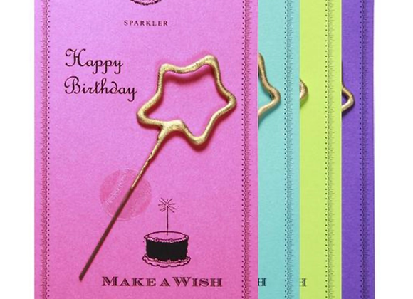 HAPPY BIRTHDAY SPARKLER CARD