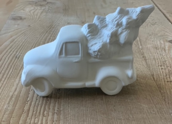 Take Out Craft Ceramic Truck w/ Tree