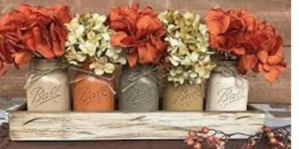 Fall Mason Jar Display (1)