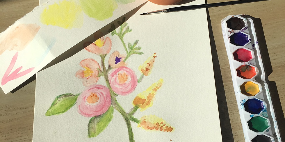 Intro to Watercolor: Painting Flowers & Leaves