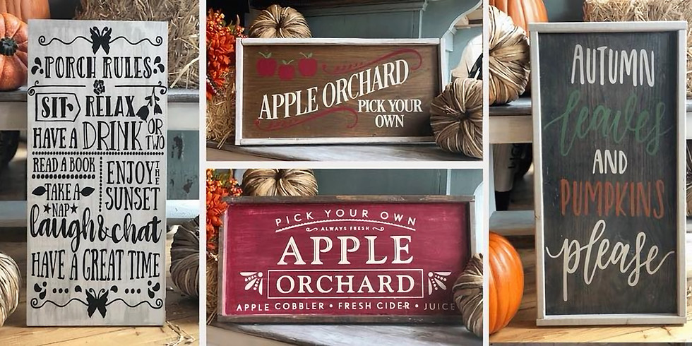 12 x 24 Wood Sign - Favorite Town or Fall Theme