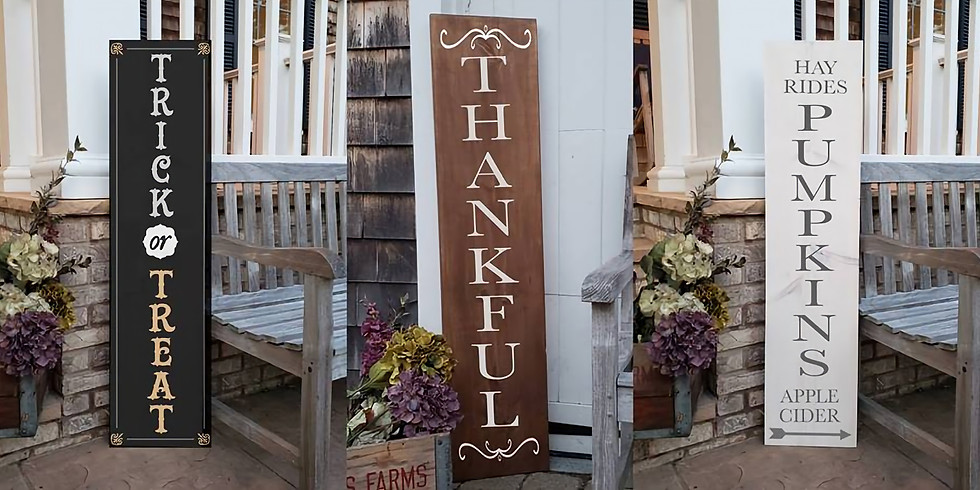 Fall Wood Porch Signs