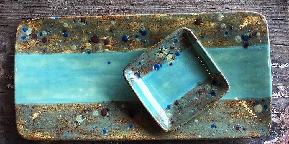 Ceramic Sushi Platter Set