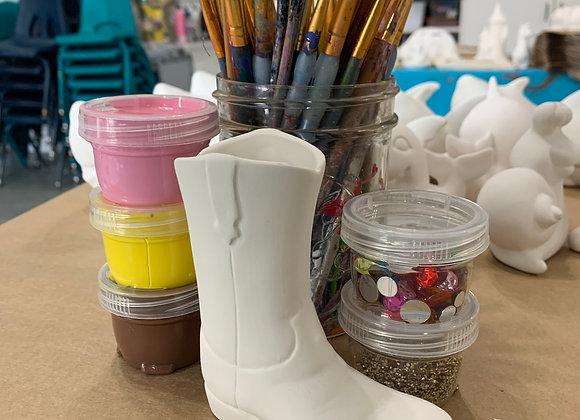 Cowboy Boot Take Out Craft