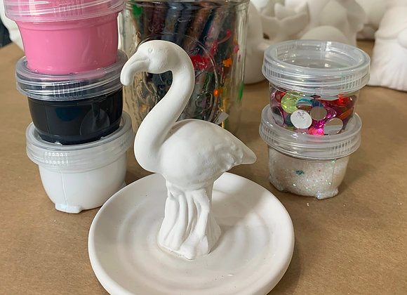 Flamingo Ring Holder Take Out Craft