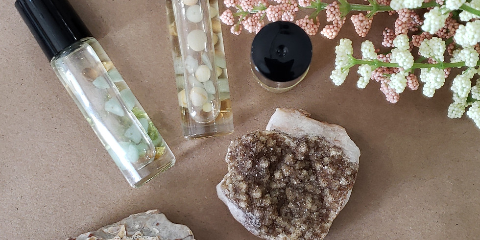 Gemstone Roll-ons With Essential Oils & Crystal Workshop