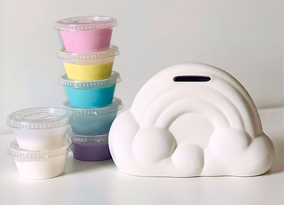Take Out Craft Ceramic Rainbow Bank