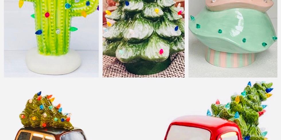 Adult Craft Bash: Vintage Christmas Tree & Holiday Ceramic Workshop