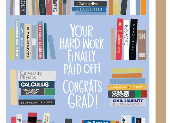 "Graduation Card ""Bookself Grad"""