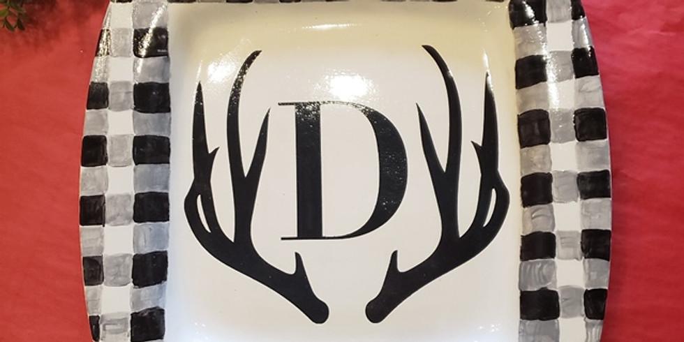 Adult Craft Bash - Hand Painted Ceramic Platters
