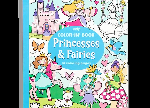 Princess & Fairies Coloring Book