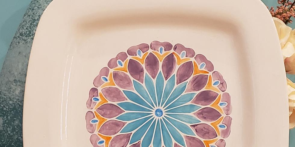 Mandala Ceramic Platters