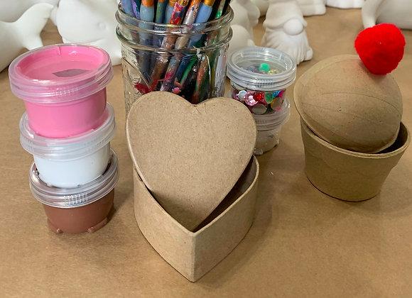 Heart + Cupcake Take Out Craft