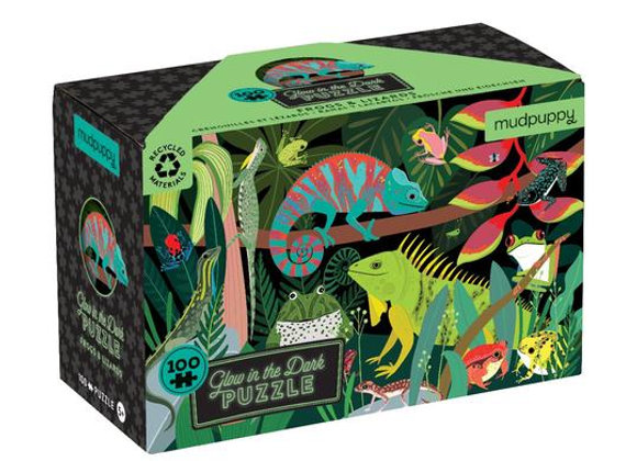 Glow in the Dark Puzzle - Frogs and Lizards