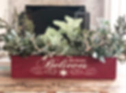 centerpiece box - holiday - this home be
