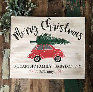 1624 plank sign - holiday merry christma
