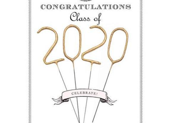 2020 GRADUATION SPARKLER CARD