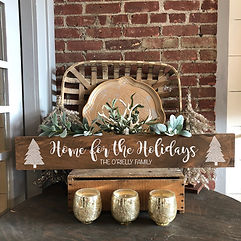6 x 36 wood sign Home for the Holidays.j