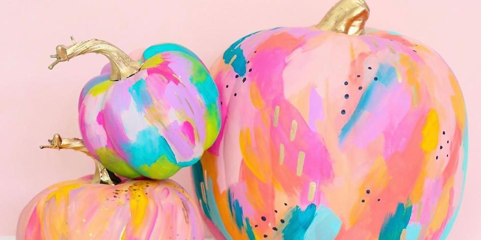 Adult Craft Bash! Abstract Art - Pumpkin Painting