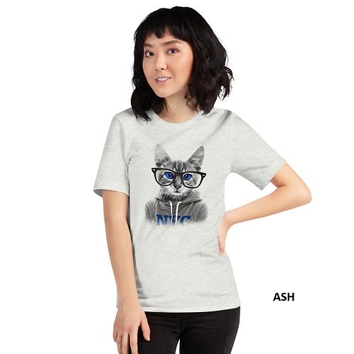 NYC Cat Printed Half Sleeve Women's T-Shirt