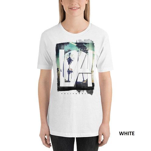 LA Printed Half Sleeve Women's T-Shirt