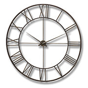 Antique Brown Skeleton Wall Clock