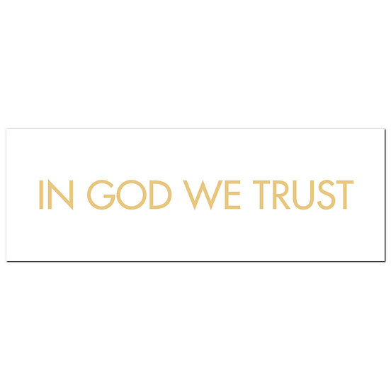 In God We Trust Gold Foil Plaque